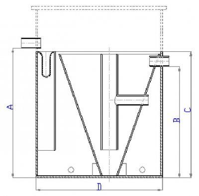 Konstrukční výkres ČOV DC